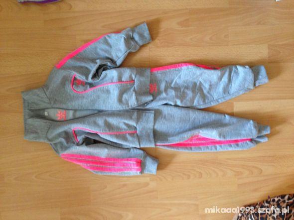 Dres dla dziewczynki Adidas 3 lata szaro różowy