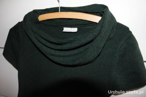 Sweterek ciążowy Zielony z golfem rozmiar S