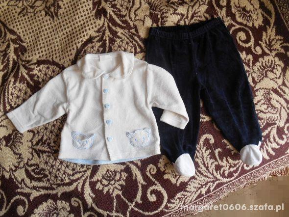 Zestaw 68 74 kardigan i spodnie 6 9 miesięcy