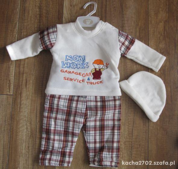 Komplet chłopięcy niemowlęcy dres ocieplany nowy