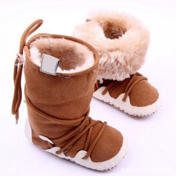 Kozaki buty zimowe niechotki długośc 10 11cm NOWE
