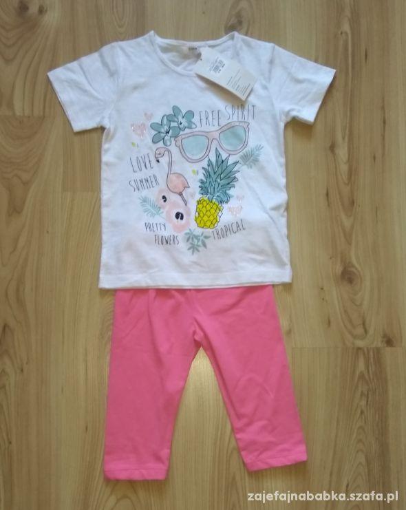 Nowy komplecik bluzeczka i krótkie getry różowe 11