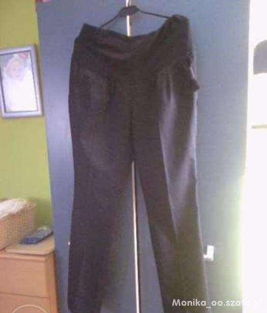 spodnie ciążowe czarne z kokardką