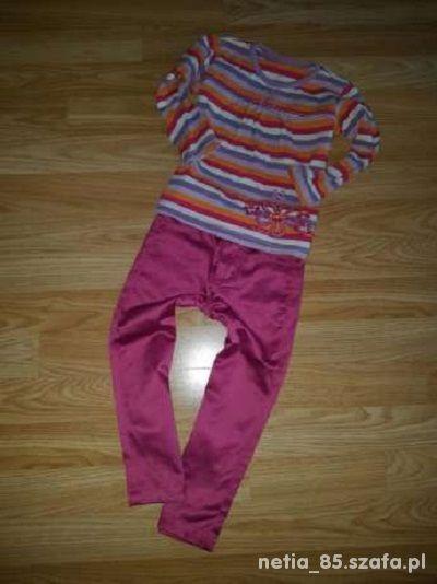 Śliczny komplet spodnie i bluzka 92cm