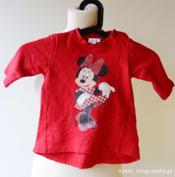 Bluzka Disney 74 cm Czerwona 6 9 m Myszka Miki Blu