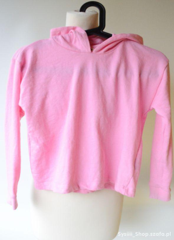 Bluza H&M Kangurka Neon Róż 134 140 cm 8 10 lat