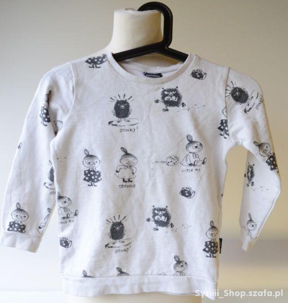 Bluza Beżowa Beż Moomin 122 cm 6 7 lat Mała Mi