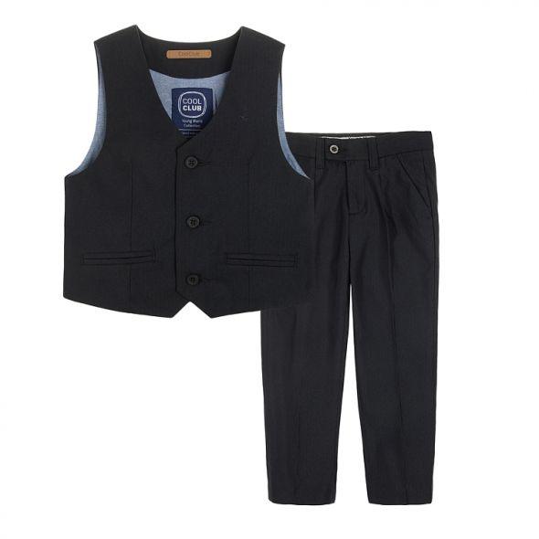 garniturowe spodnie i kamizelka 158