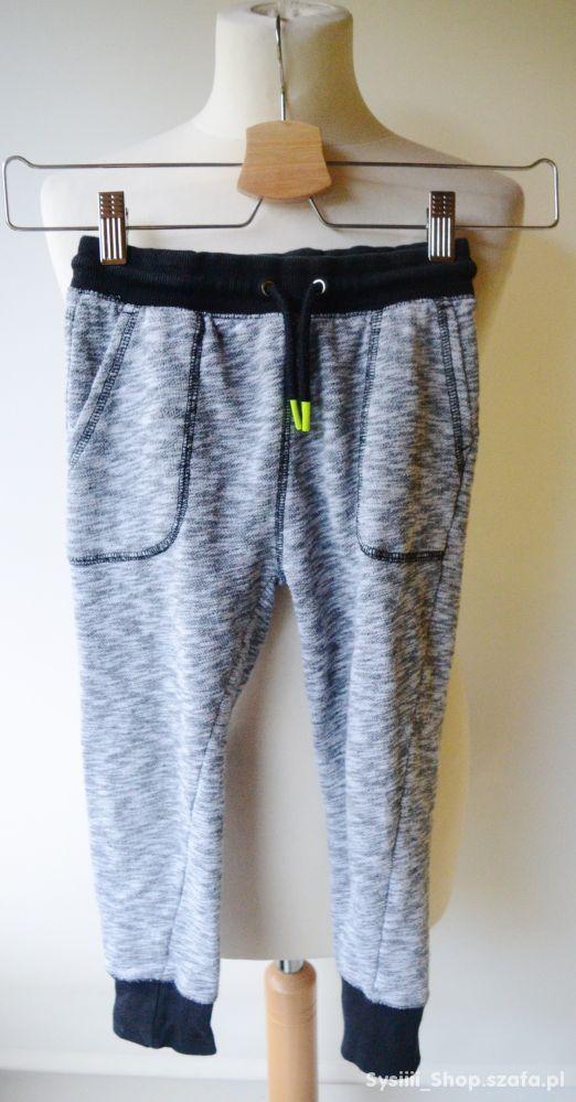 Spodnie Szare Dresy Melanż H&M 116 cm 5 6 lat