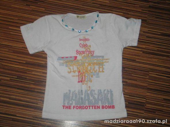 biala koszulka Smiling Kids rozmiar 134