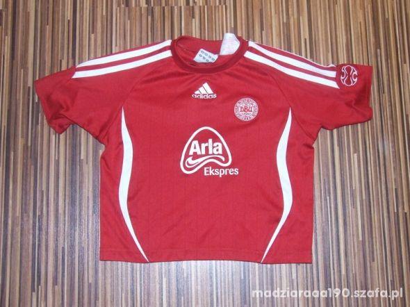 czerwona koszulka Adidas rozmiar 104
