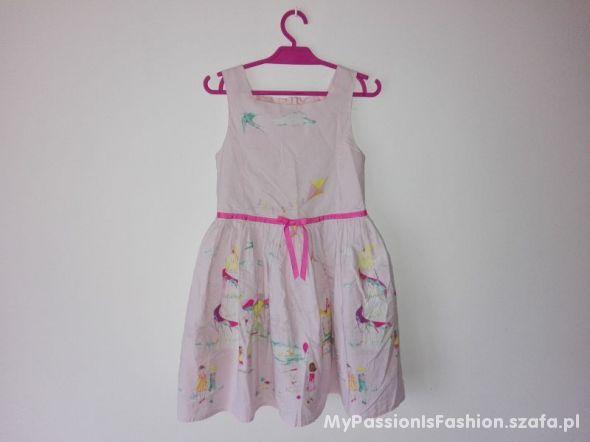 NEXT Sukienka kloszowana print 116