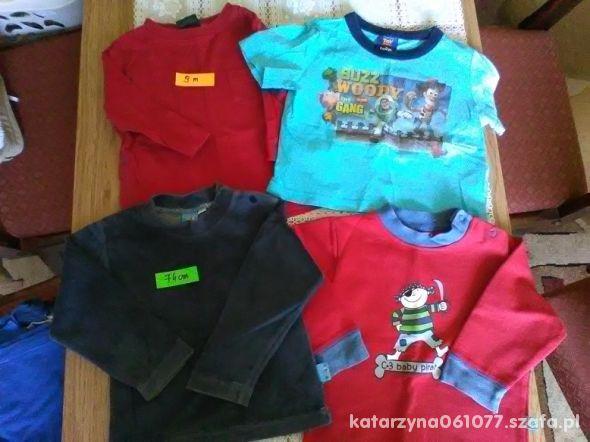 zestaw koszulek i bluzy 6 9 m 74