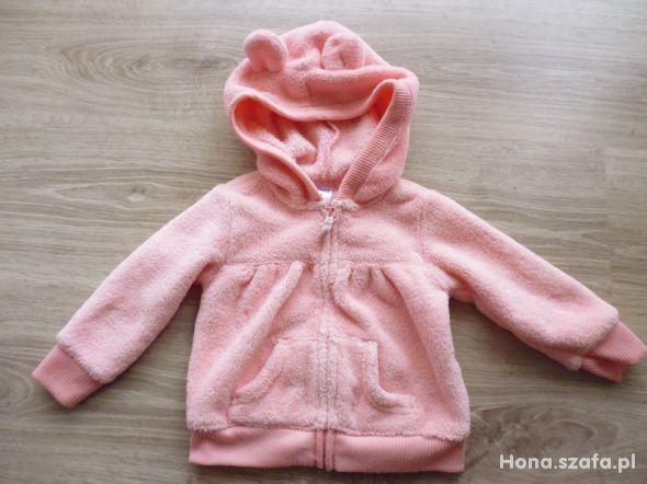 Ciepła bluza dla dziewczynki z uszkami