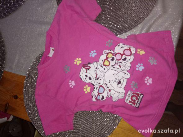 rózowa bluzeczka z dalmateńczykami