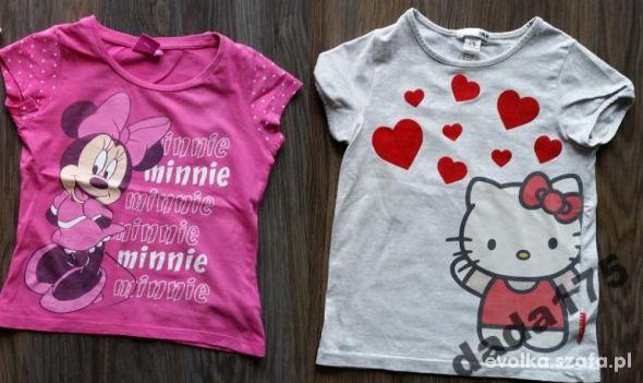 2x bluzeczka z myszką minnie i z hello kitty