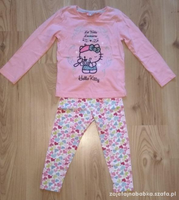 Nowa bluzka z długim rękawem Hello Kitty i getry w