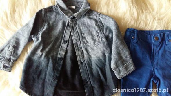 Koszula ombre f&f stan bdb i spodnir