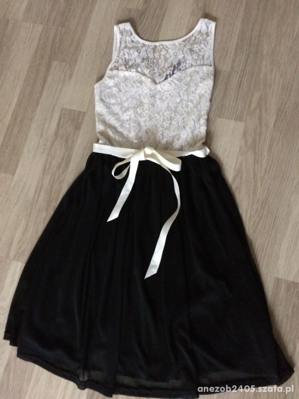 sukienka dwukolorowa