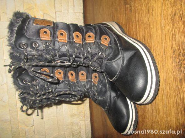 Buty zimowe śniegowce bardzo ocieplane 35