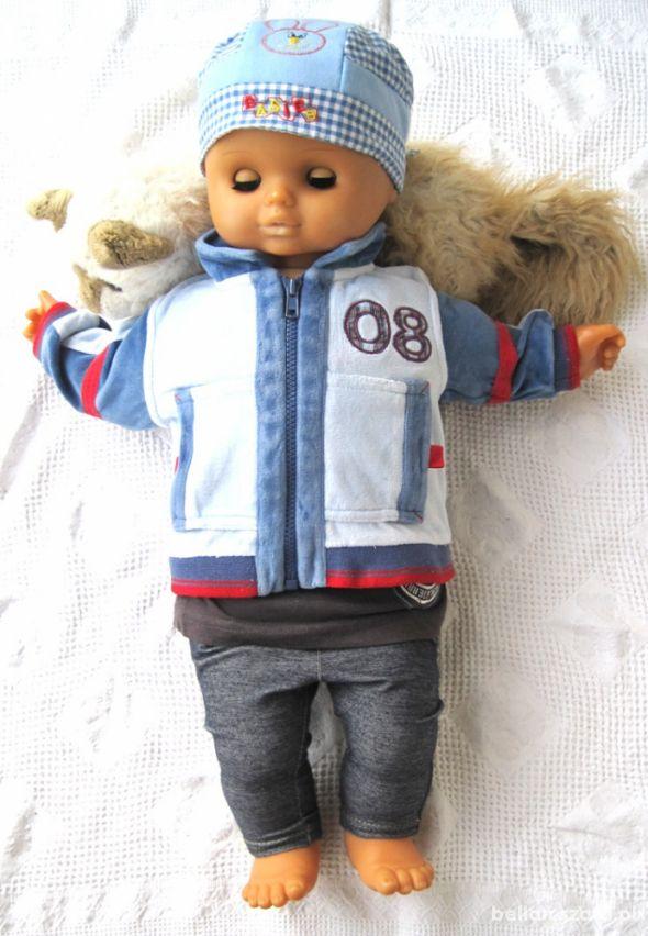 bluza niemowlęca 56 cm niebieska rozpinana chłopie