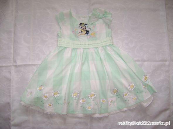Disney sukienka kokardka roz 3 4 lata 98 104 cm
