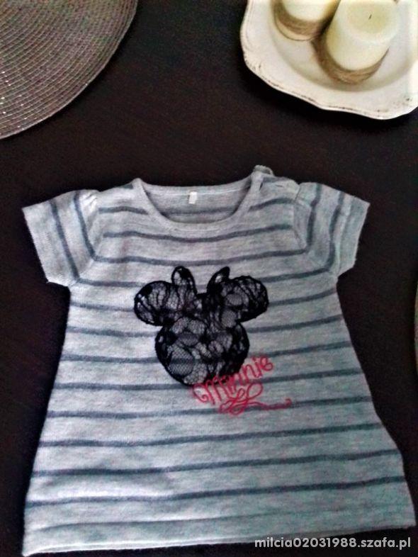 Szara słodka tunika sweterkowa z Disneya