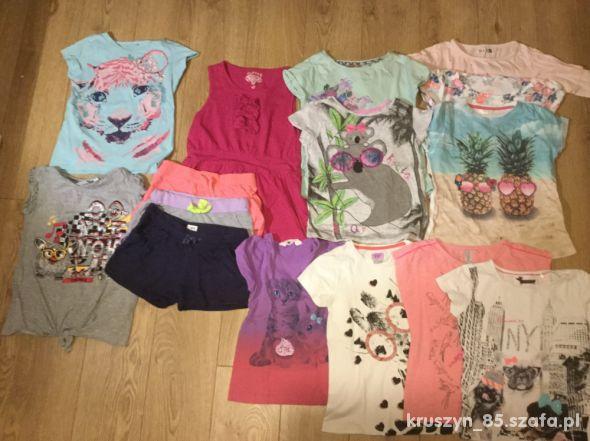 Bluzki letnie krótki rękaw T shirt 116 122