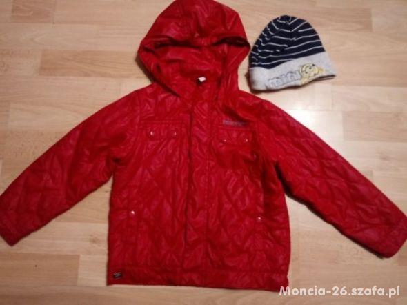 wiosenna czerwona kurtka 110 gratis czapka