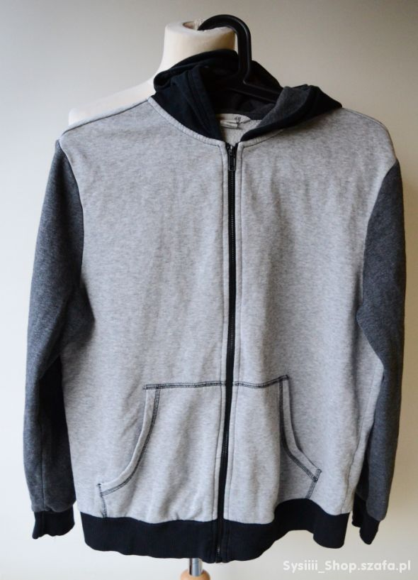 Bluza Szara H&M Kaptur 158 164 cm 12 14 lat Szary