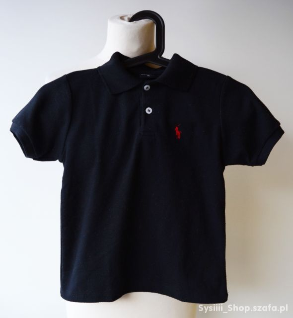 Bluzka T Shirt Czarna Ralph Lauren 122 cm 7 lat RL