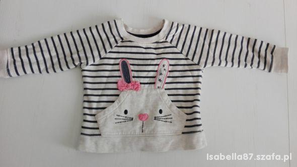 Bluza z króliczkiem na wiosnę 80cm