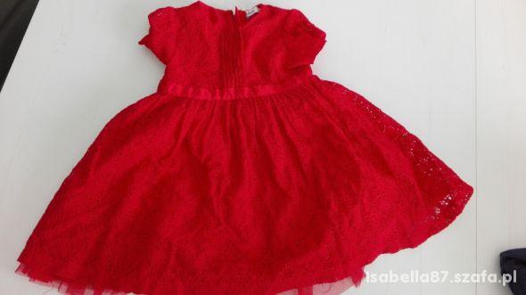 CUDOWNA wizytowa koronkowa sukienka CUBUS 80 cm