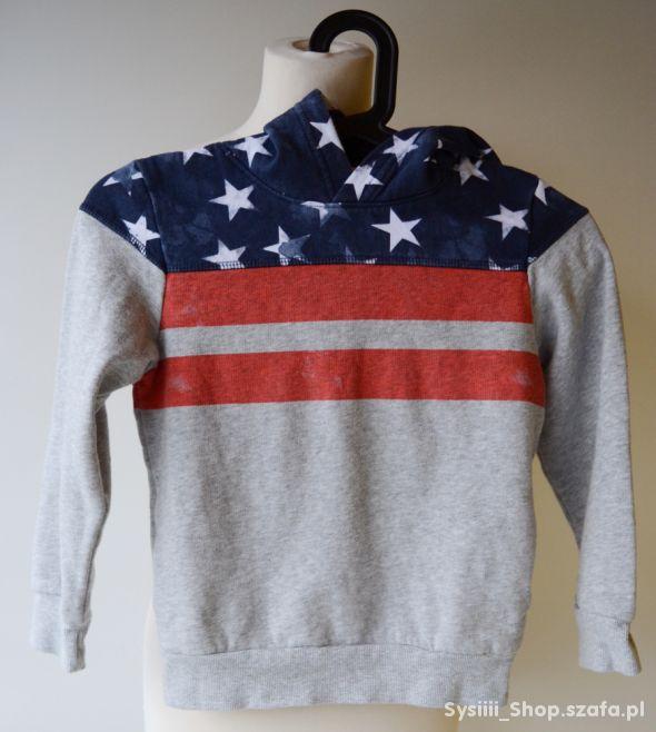 Bluza Kangurka Flaga USA H&M 122 128 cm 6 8 lat