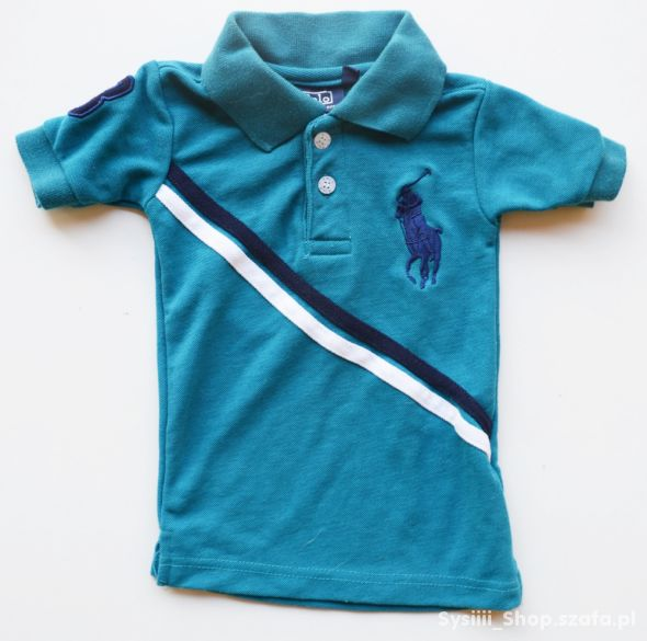 Koszulka Polo 68 cm 9 m Turkusowa Ralph Lauren