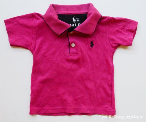 Koszulka Polo Fuksja Ralph Laren 86 cm 12 m Różowa