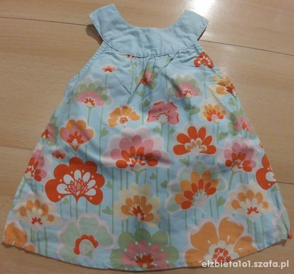 Sukienka w kwiaty Rozm 68
