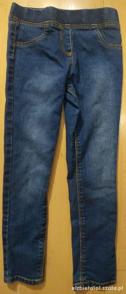 Spodnie legginsy jeansowe George 6 7 lat