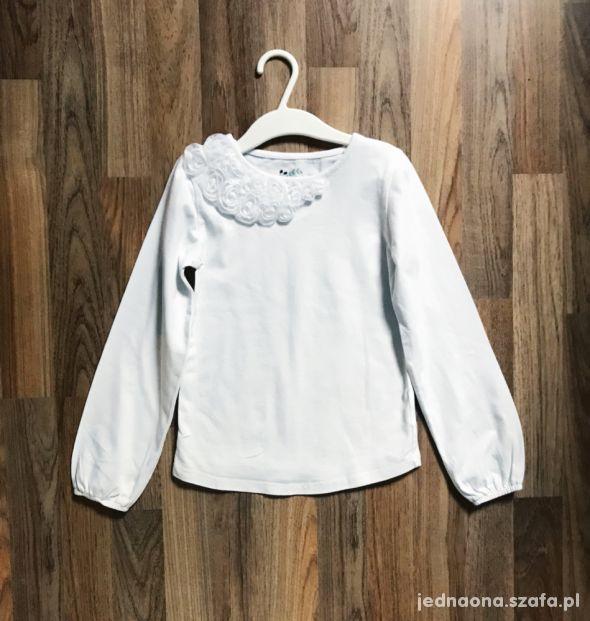 biala bluzeczka 5 6 lat