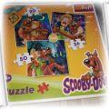 TREFL 3 obrazki Puzzle Scooby Doo 20 36 i 50 puzli