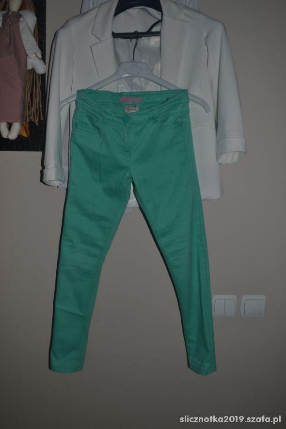 Spodnie Next zielone skinny 140cm 134cm 9 10 lat