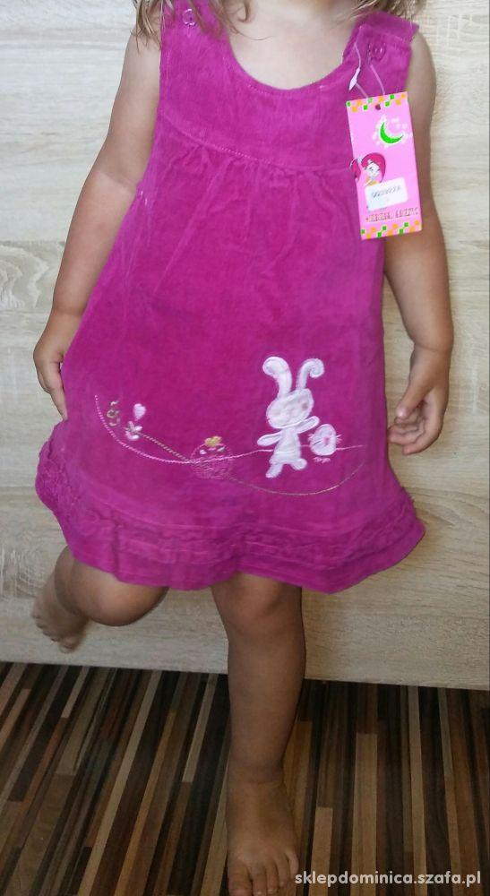 Nowe sukieneczki sztruksowe niemowlęce 2 kolory
