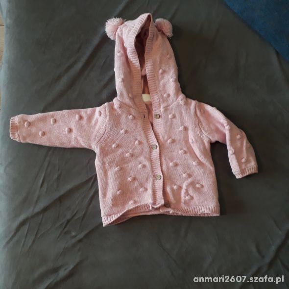 Ocieplana różowa bluza roz 68 F&F