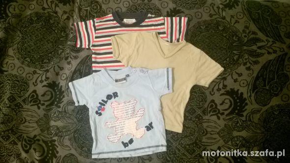 Dwie koszulki zestaw lub na sztuki gratis r 80