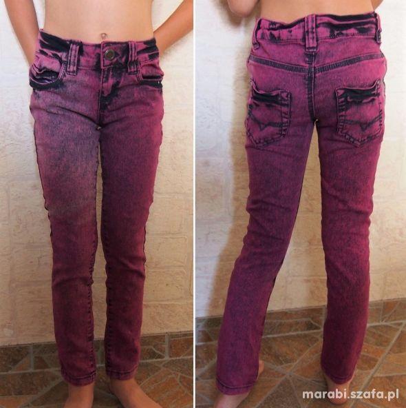 128 134 DENIM Świetne cieniowane rurki jeans wróżu