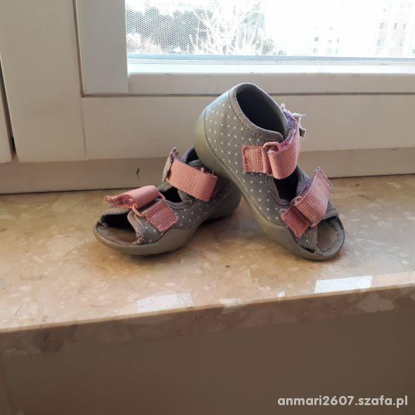 Sandałki szare dla dziewczynki roz 20 Befado