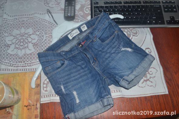 Cubus Spodenki jeansowe 140cm 146cm 9 10 11lat jNo