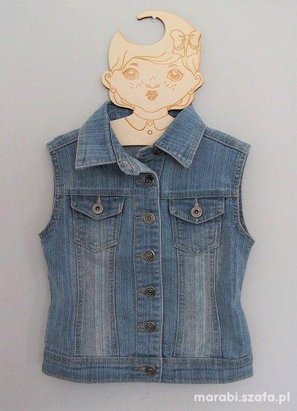 122 128 Fajna jeansowa kamizelka MISS EVIE