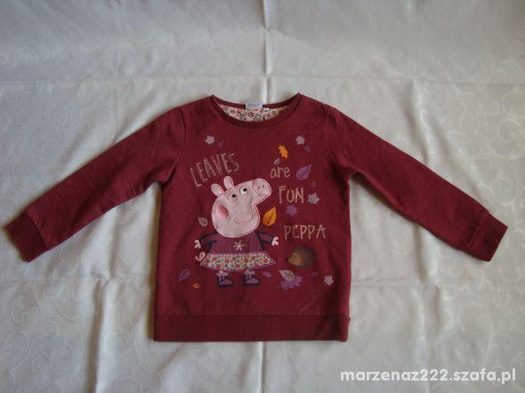 Bluza dresowa Peppa Pig roz 6 7 lat 116