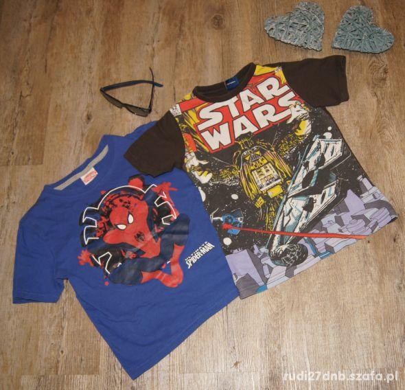 Zestaw chłopiec koszulki Spiderman Star Wars 110